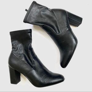 Steve Madden Black Emina Sock Bootie